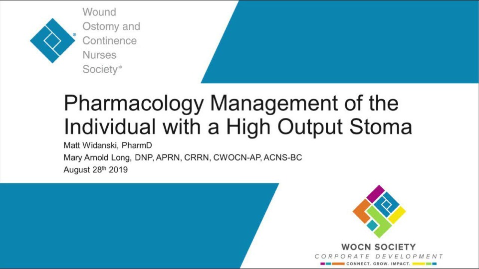 Pharmacological Management of the Individual with a High Output Stoma