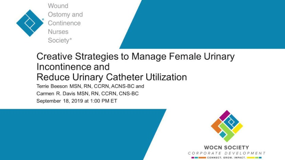 Creative Strategies to Manage Female Urinary Incontinence and Reduce Urinary Catheter Utilization
