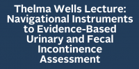 Thelma Wells Lecture: Navigational Instruments to Evidence-Based Urinary and Fecal Incontinence Assessment
