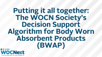 Putting it all together: The WOCN Society's Decision Support Algorithm for Body Worn Absorbent Products (BWAP)
