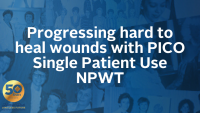 Progressing hard to heal wounds with PICO Single Patient Use NPWT