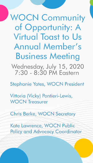 WOCN Community of Opportunity™: A Virtual Toast to Us! Annual Member's Business Meeting