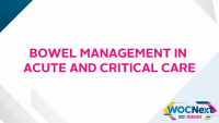 Bowel Management in Acute and Critical Care
