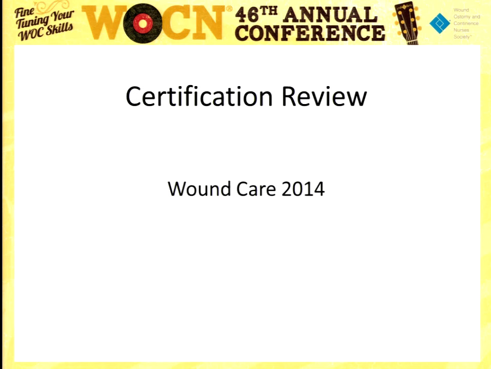 Wocn Certification Review Course Wound