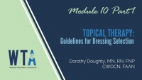 Topical Therapy: Guidelines for Dressing Selection and Slide Study 1