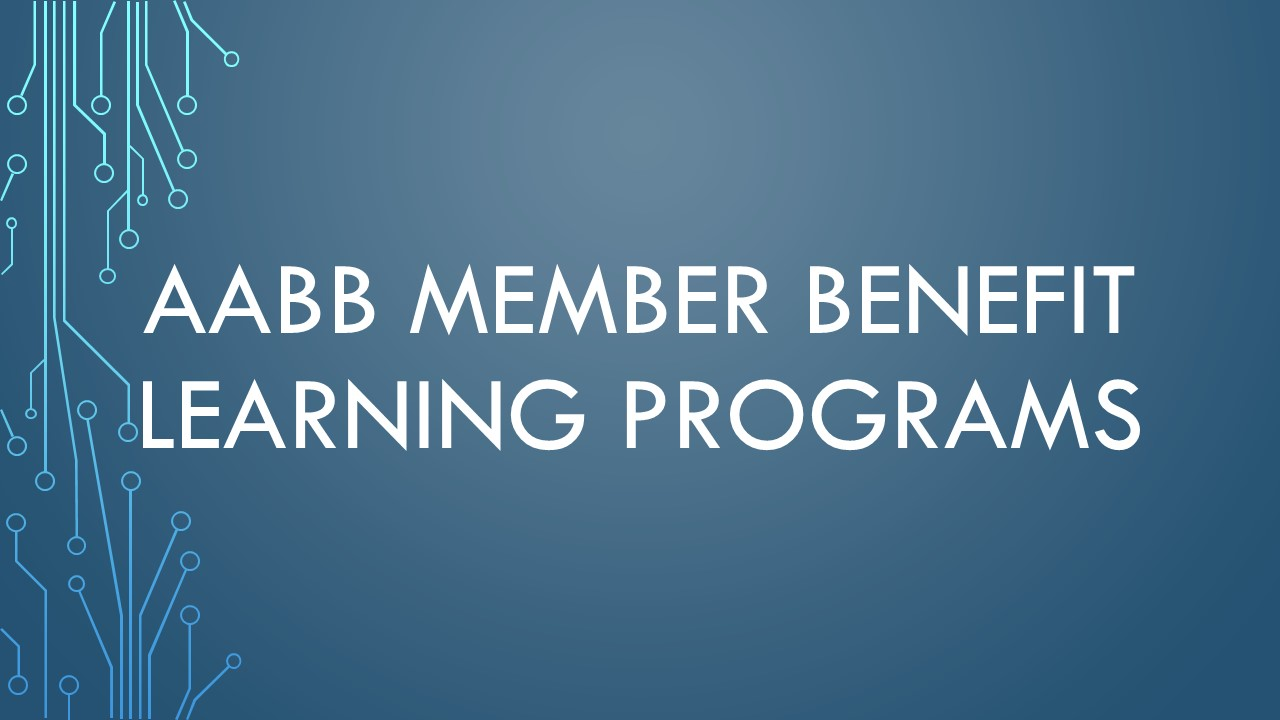 AABB Member Benefit Learning Programs