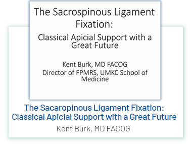 The Sacrospinous Ligament Fixation: Classical Apicial Support with a Great Future